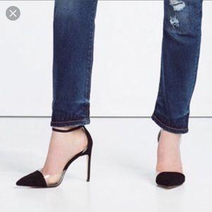 Zara d'Orsay cap toe heels